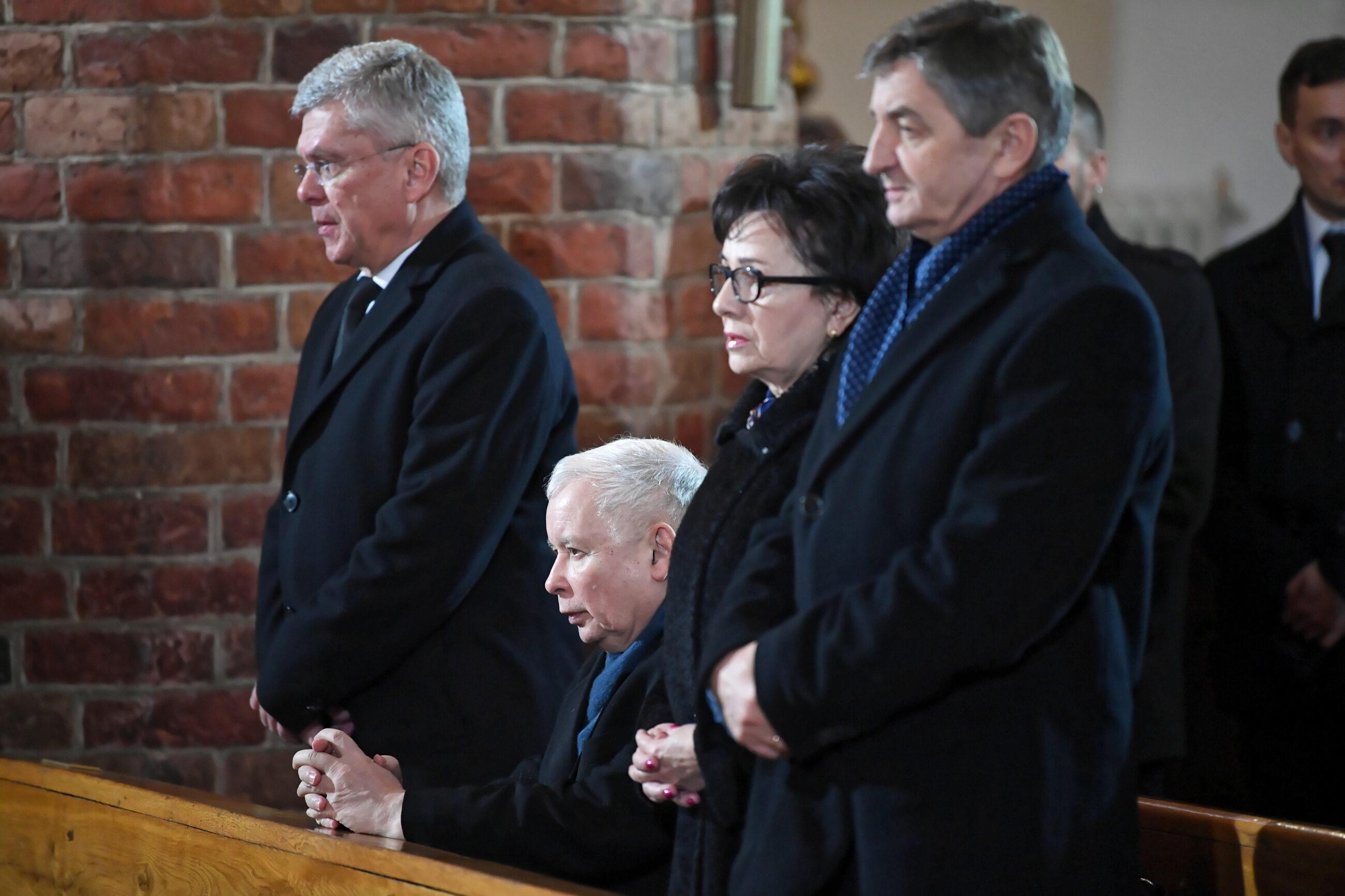 Jarosław Kaczyński, Stanisław Karczewski, Marek Kuchciński, Elżbieta Witek